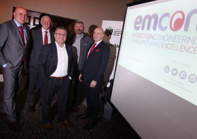 Ben Gilhespy, David Land, Zeynel Badak (Emax Systems), Graeme Parkins (Dyer) and Brian Archer (Business Durham)
