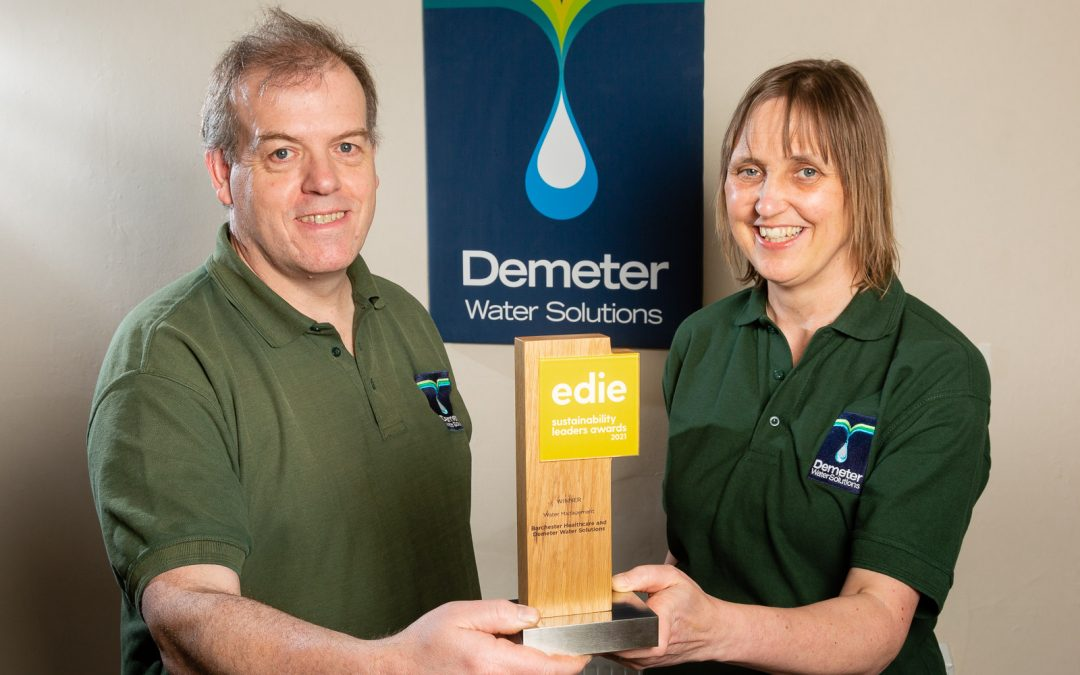 MEMBER NEWS: Demeter Water & Barchester Healthcare announced winners of prestigious sustainability award.