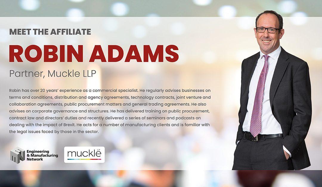 AFFILIATE NEWS: Meet Robin Adams, Partner at Muckle LLP.