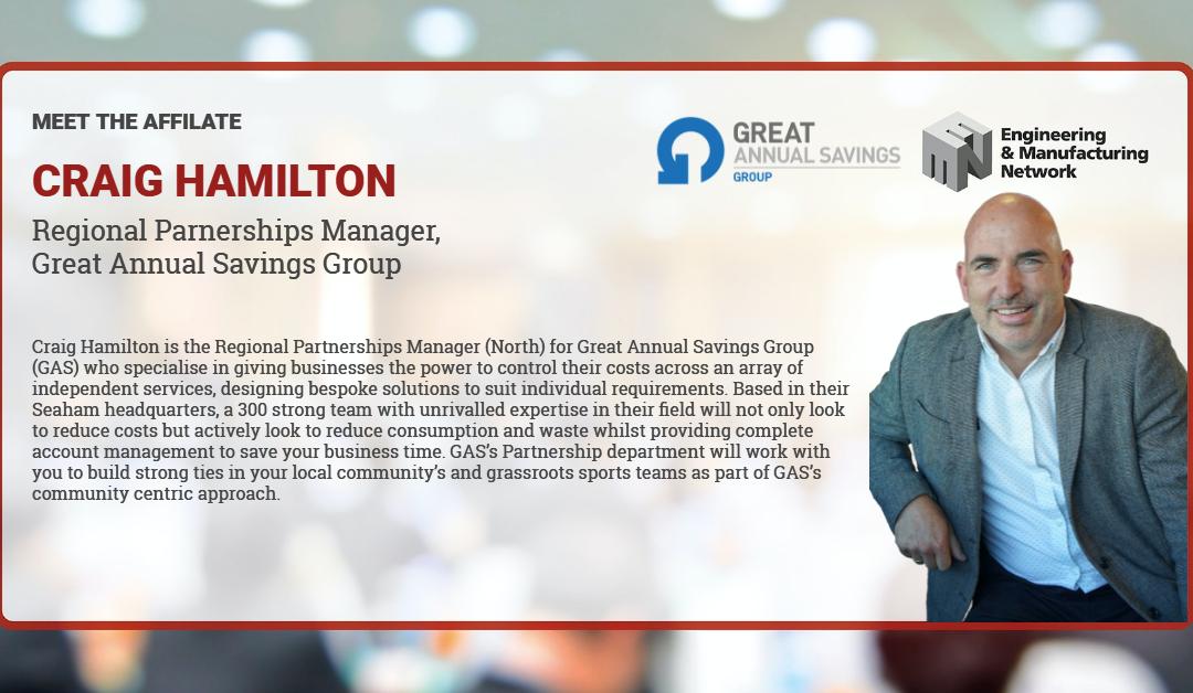 AFFILIATE NEWS: Meet Craig Hamilton GAS affiliate member.
